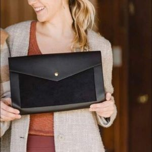 Glass Ladder & Co portafolio clutch - black